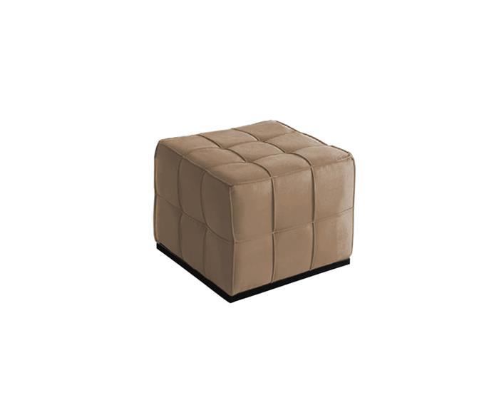 puff estofado quadratto individual 028604 puff quadrado estofado bege