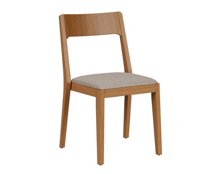 cadeira empilhável em madeira maciça vic 136804 cadeira empilhável madeira e linho bege
