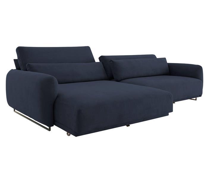 sofá retrátil em molas 3 lugares upper 138203G sofá retrátil em molas azul marinho