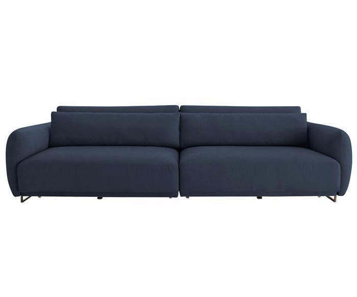 sofá retrátil em molas 4 lugares upper 138303G sofá retrátil em molas azul marinho