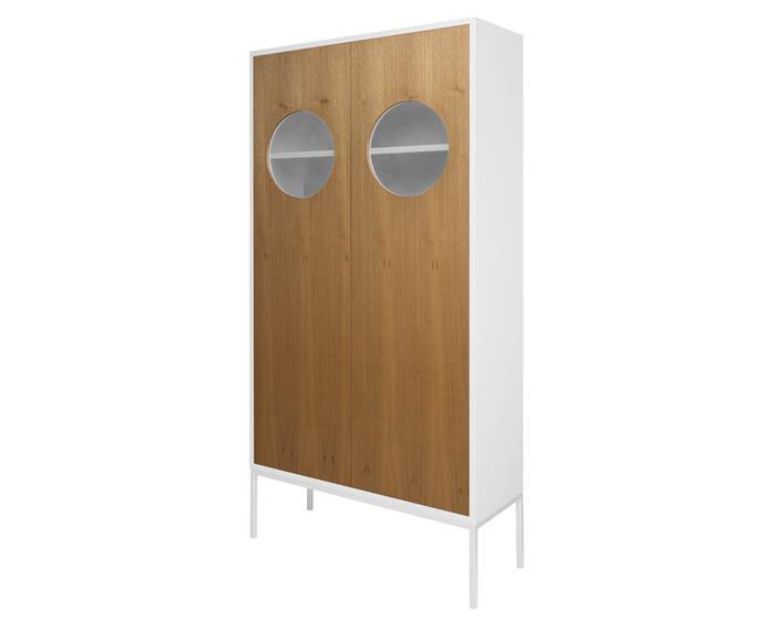 armário cristaleira em madeira chelsea 129706 armário cristaleira em madeira chelsea branco e freijó