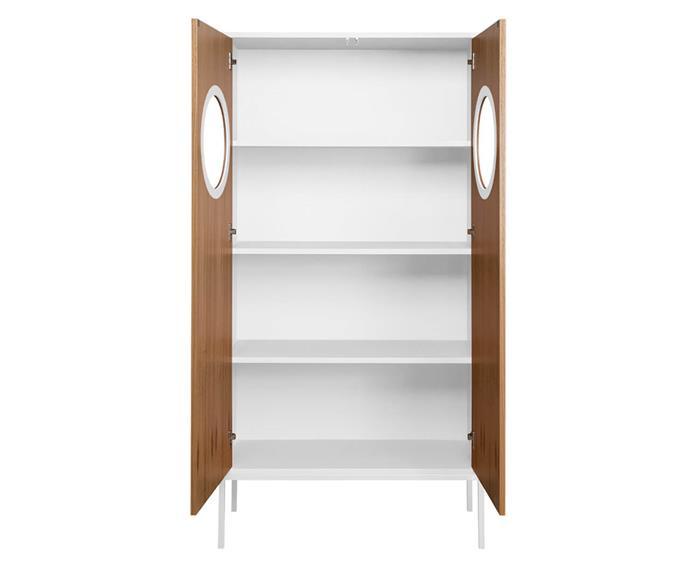 armário cristaleira em madeira chelsea 129706 armário cristaleira em madeira chelsea branco aberto