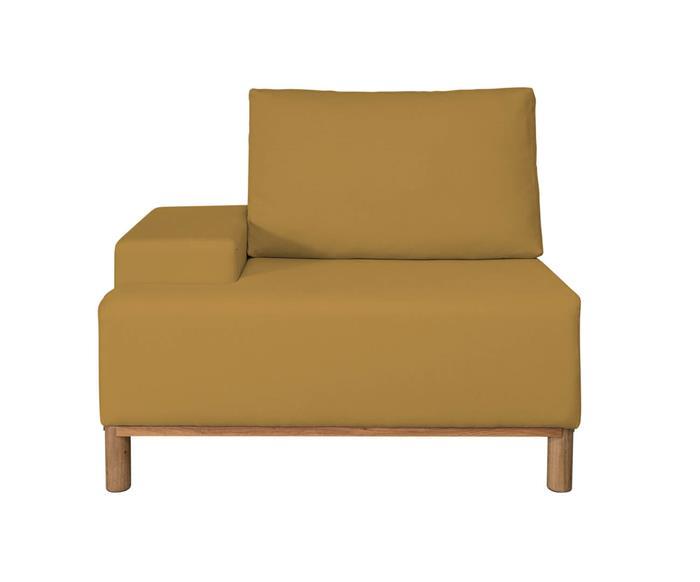módulo com braço esquerdo - sofá modular 203 139201G sofa modular linho amarelo