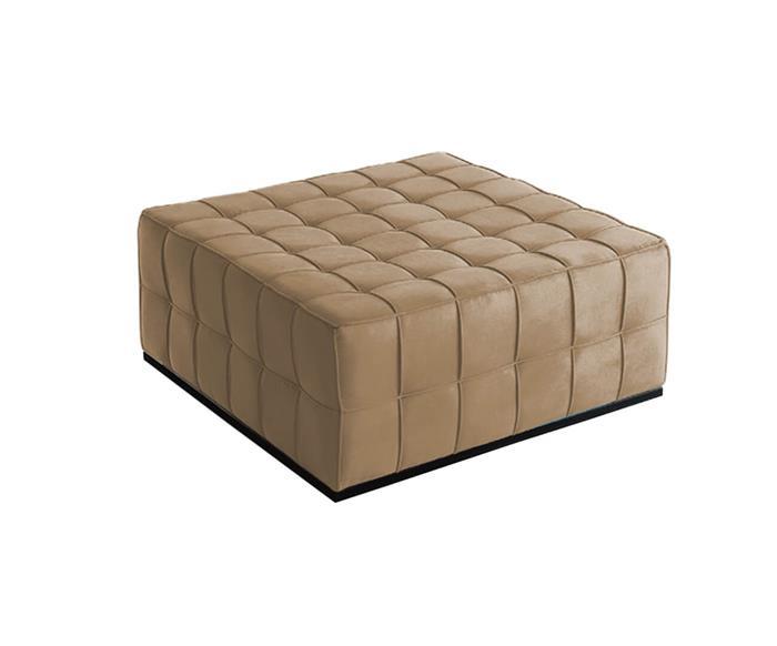 puff de tecido quadratto 028704 puff de tecido quadratto bege