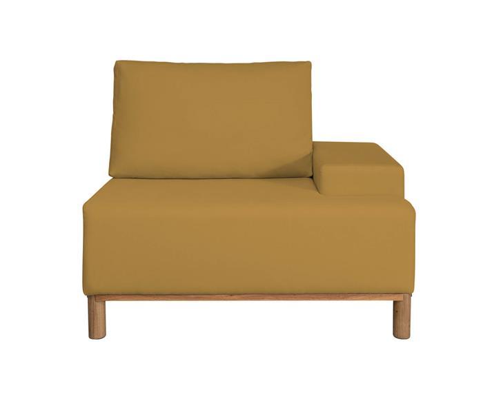 módulo com braço direito - sofá modular 203 139301G sofa modular linho amarelo