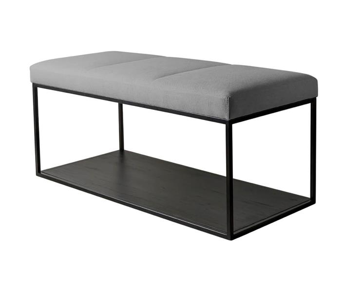 banco mesa estofado oviedo 115008 banco mesa estofado oviedo cinza claro