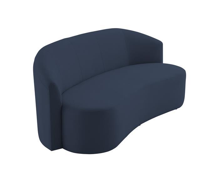 sofá curvo casablanca 140703G sofá curvo casablanca azul marinho