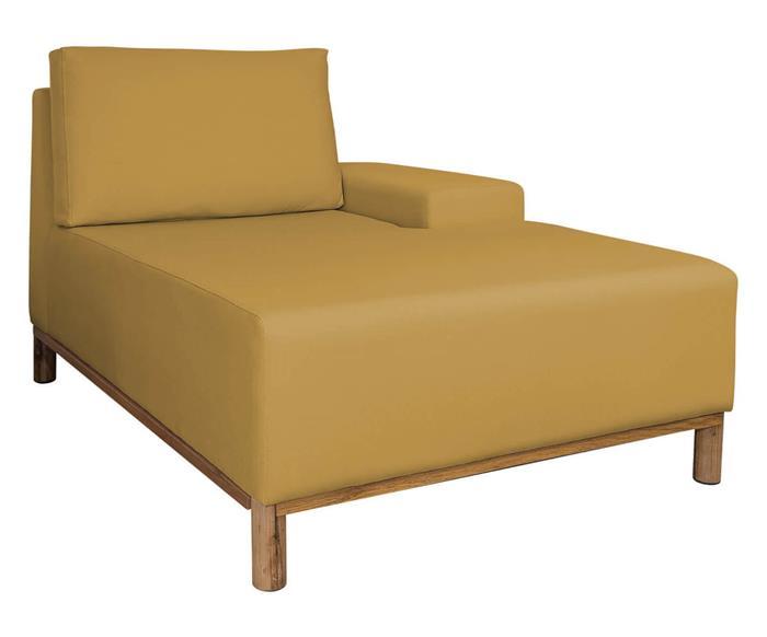 módulo chaise braço direito - sofá modular 203 139401 sofa modular chaise amarelo