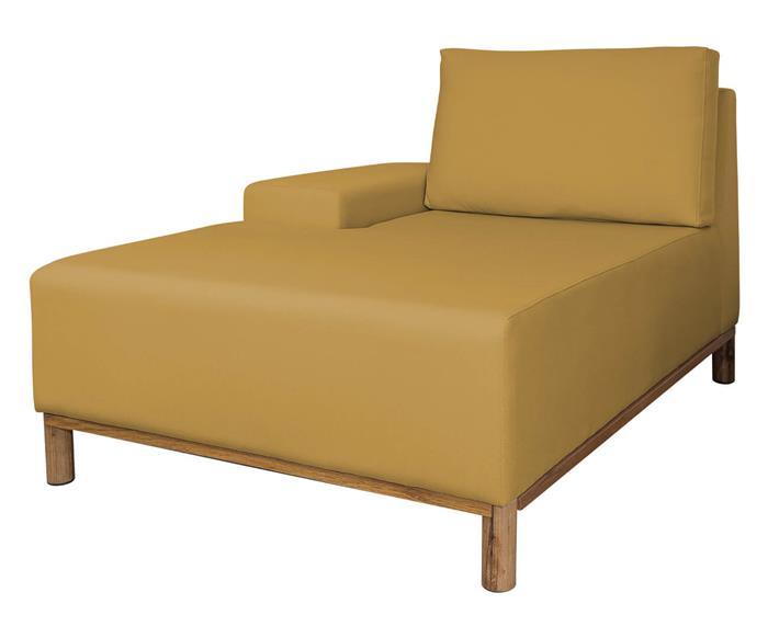 módulo chaise braço esquerdo - sofá modular 203 139503 chiase sofa modular amarelo