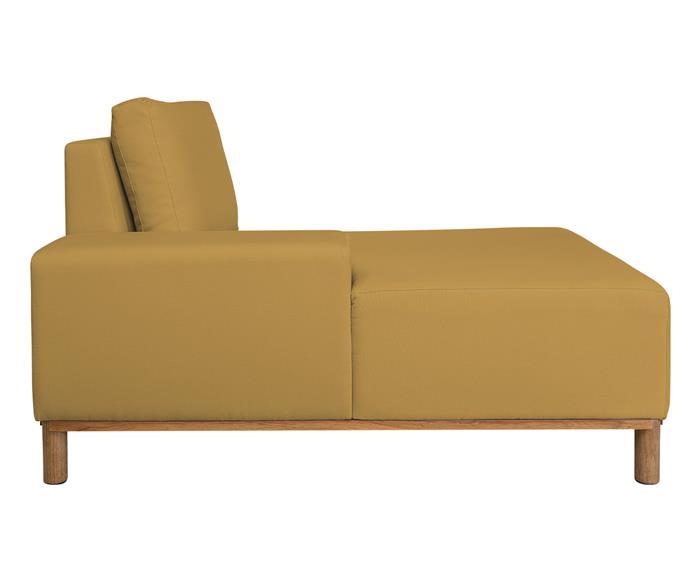 módulo chaise braço esquerdo - sofá modular 203 139503 chiase sofa modular amarelo6