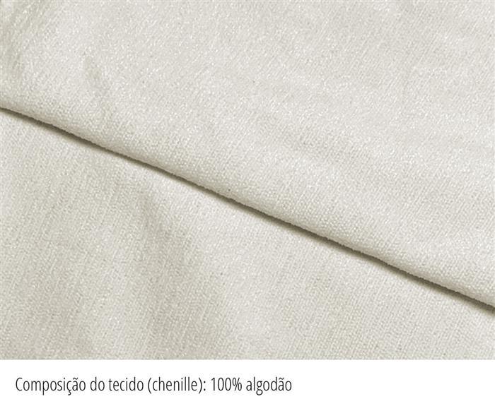 sofá redondo spiral (chenille 100% algodão) 1400G tecido