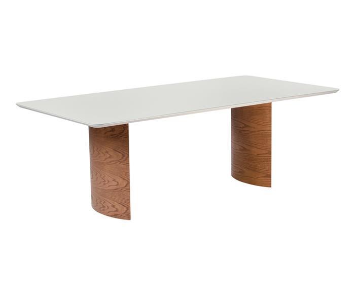 mesa de jantar em madeira e laca valencia  1413G