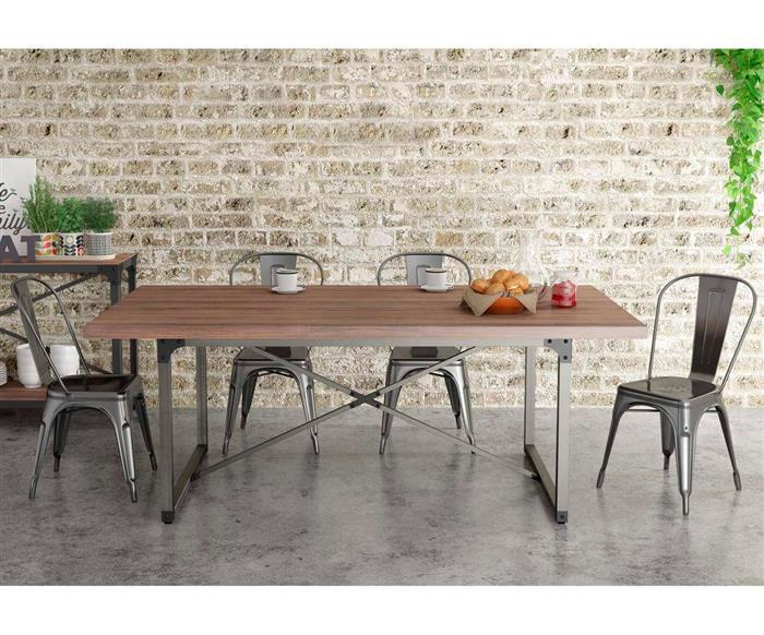 mesa de jantar industrial hub 1160G mesa de jantar industrial hub grande