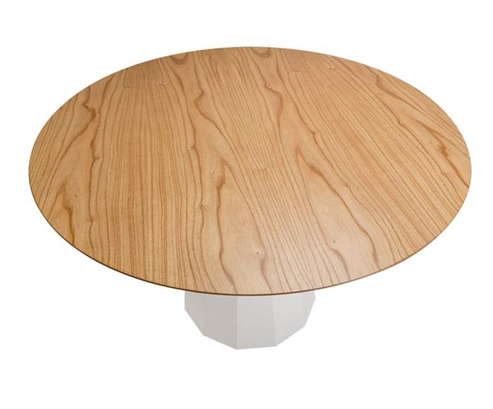 mesa de jantar cone hexagonal lyon 105306G mesa de jantar cone hexagonal lyon branca grande