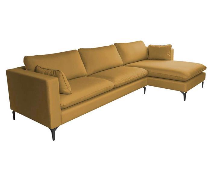 sofá com chaise 3 lugares arco 123201BD sofá com chaise 4 lugares AMARELO