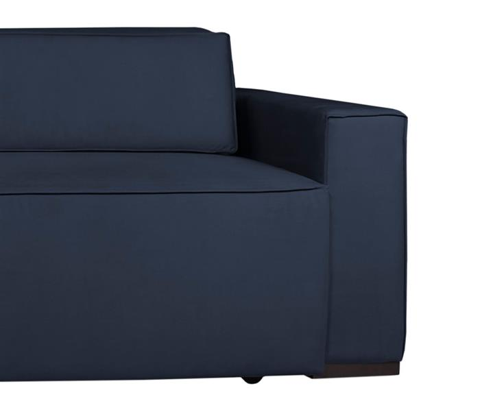 sofá retrátil e reclinável modern (molejo duplo) 122903G sofá retrátil e reclinável COM MOLAS AZUL MARINHO