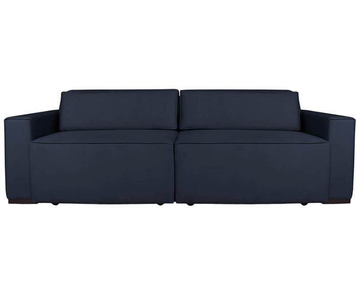 sofá retrátil e reclinável modern (molejo duplo) 122903G sofá retrátil e reclinável COM MOLAS AZUL MARINHO 1