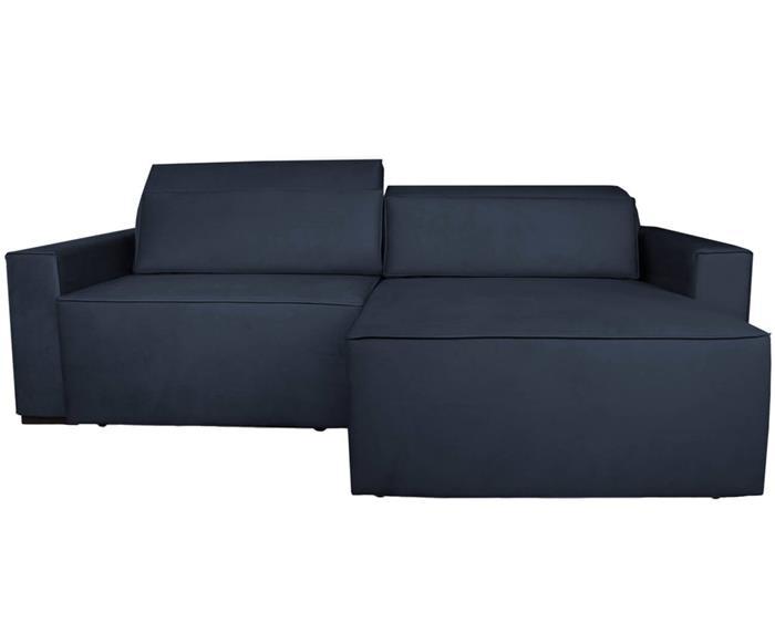 sofá retrátil e reclinável modern (molejo duplo) 122903G sofá retrátil e reclinável COM MOLAS AZUL MARINHO 2