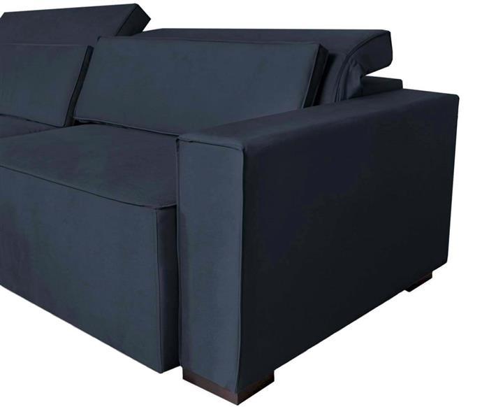 sofá retrátil e reclinável modern (molejo duplo) 122903G sofá retrátil e reclinável COM MOLAS AZUL MARINHO 3