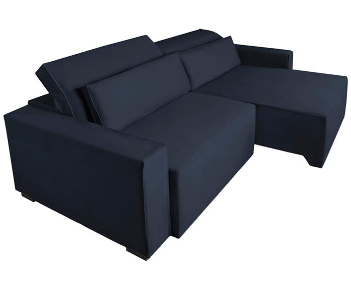 sofá retrátil e reclinável modern (molejo duplo) 122903G sofá retrátil e reclinável COM MOLAS AZUL MARINHO 4