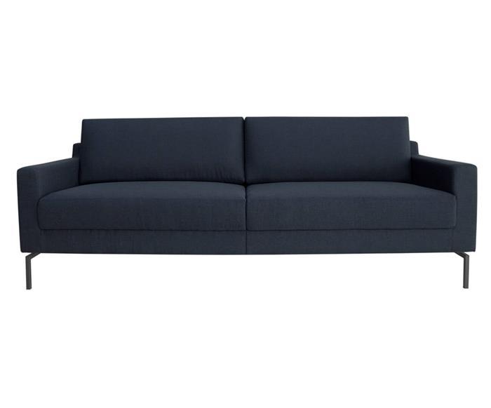 sofá bipartido 3 lugares boxy 109203G sofá bipartido 3 lugares pé metal azul marinho