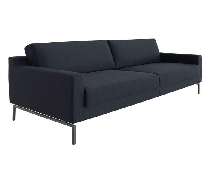 sofá bipartido 3 lugares boxy 109203G sofá bipartido 3 lugares pé metal azul marinho 1