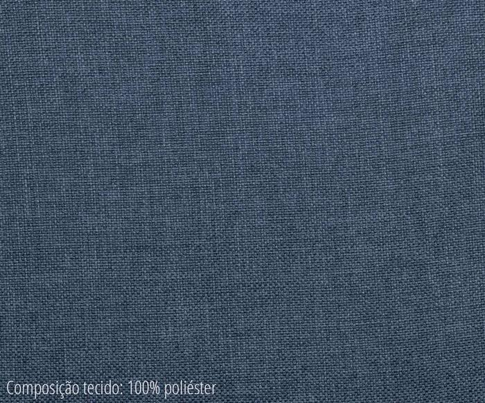 banco estofado zera 058203A tecido banco de madeira estofado azul marinho