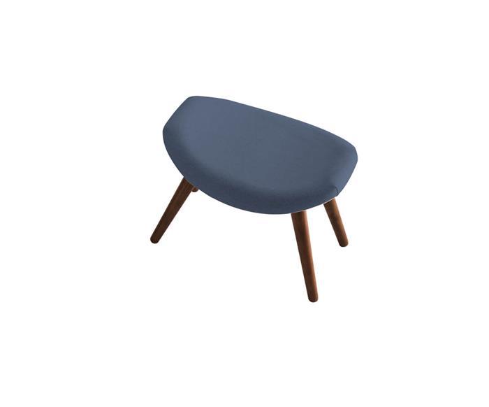banco estofado zera 058203A banco de madeira estofado azul marinho