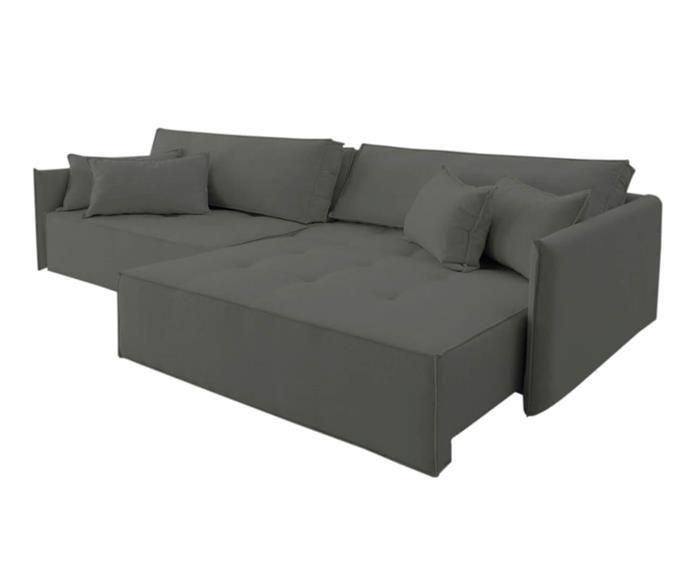 sofá retrátil 3 lugares em molas sogno 106809G sofá-cama retrátil moderno 3 lugares em molas CINZA 2