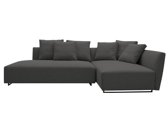 sofá com chaise 3 lugares cloud (modular) 091709BD sofá com chaise 3 lugares modular em linho cinza 1