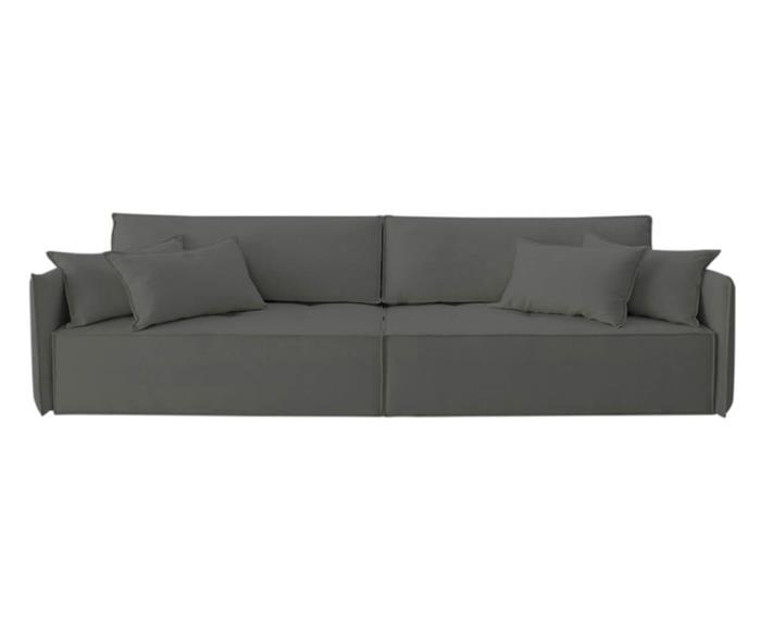 sofá retrátil 4 lugares em molas sogno 106909G sofá retrátil e cama 4 lugares em molas cinza