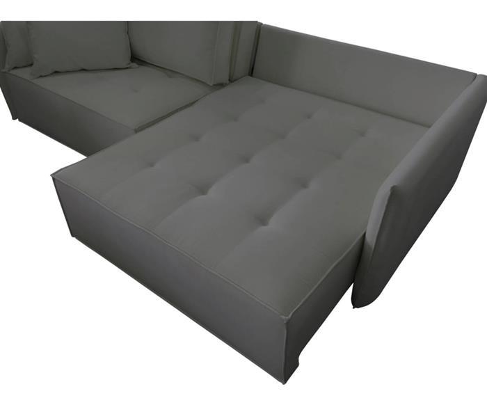 sofá retrátil 4 lugares em molas sogno 106909G sofá retrátil e cama 4 lugares em molas cinza 4
