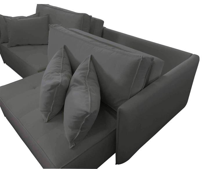 sofá retrátil 4 lugares em molas sogno 106909G sofá retrátil e cama 4 lugares em molas cinza 5
