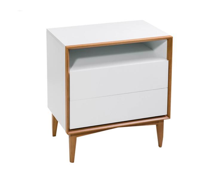 mesa de cabeceira em laca e madeira frame 1280