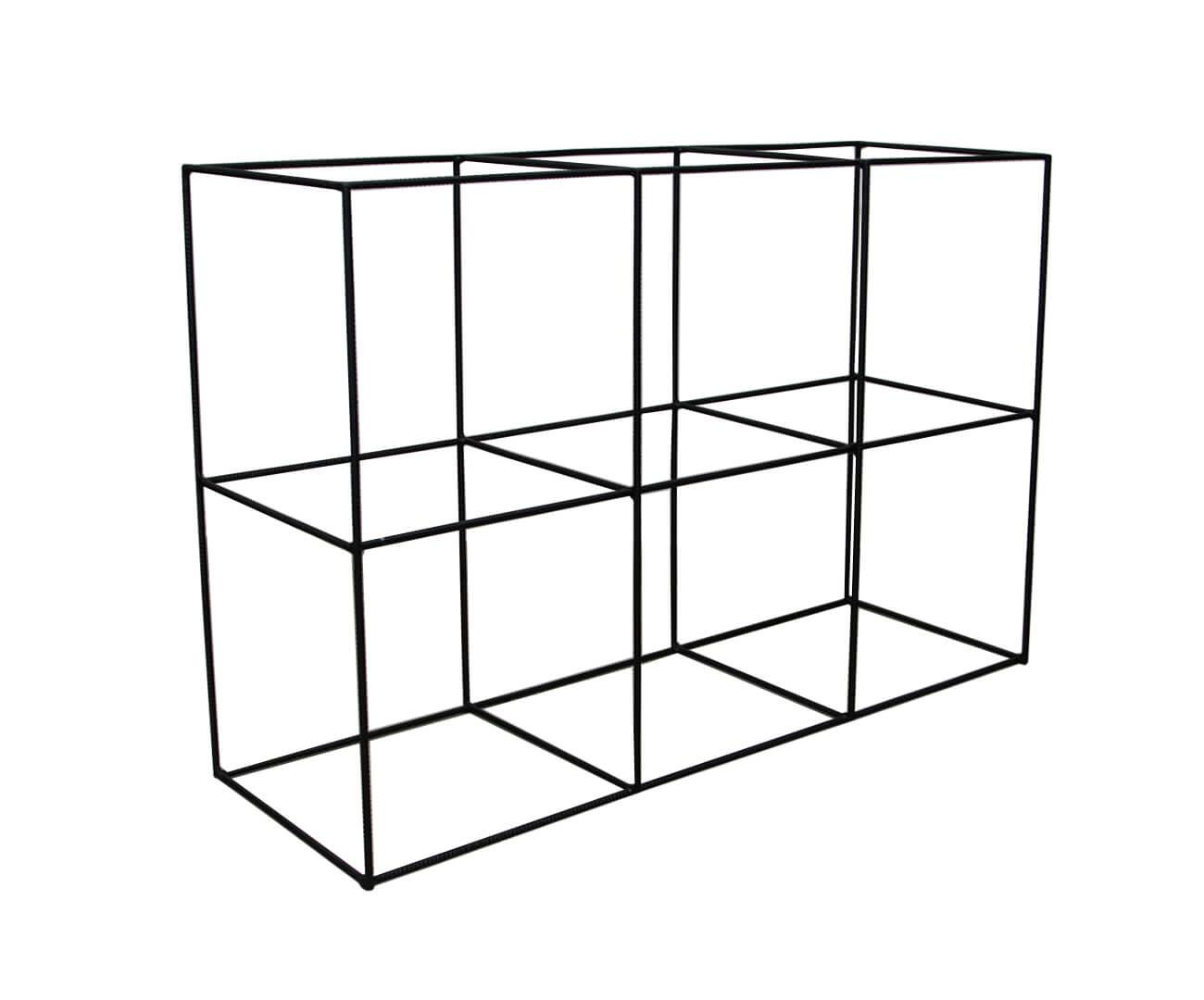 estante de metal vergalhão cubic baixa 0865