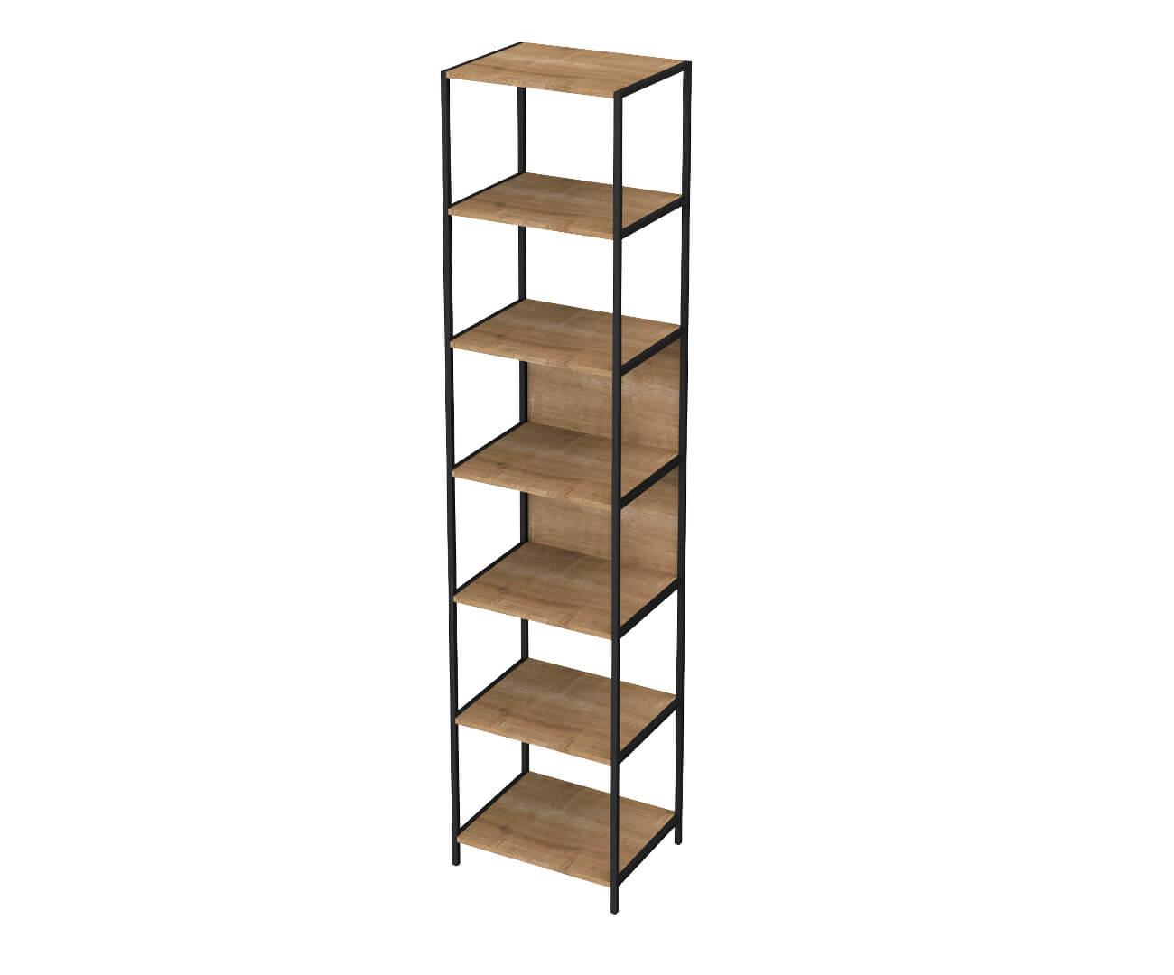 estante em metal e madeira camden pequena 0925