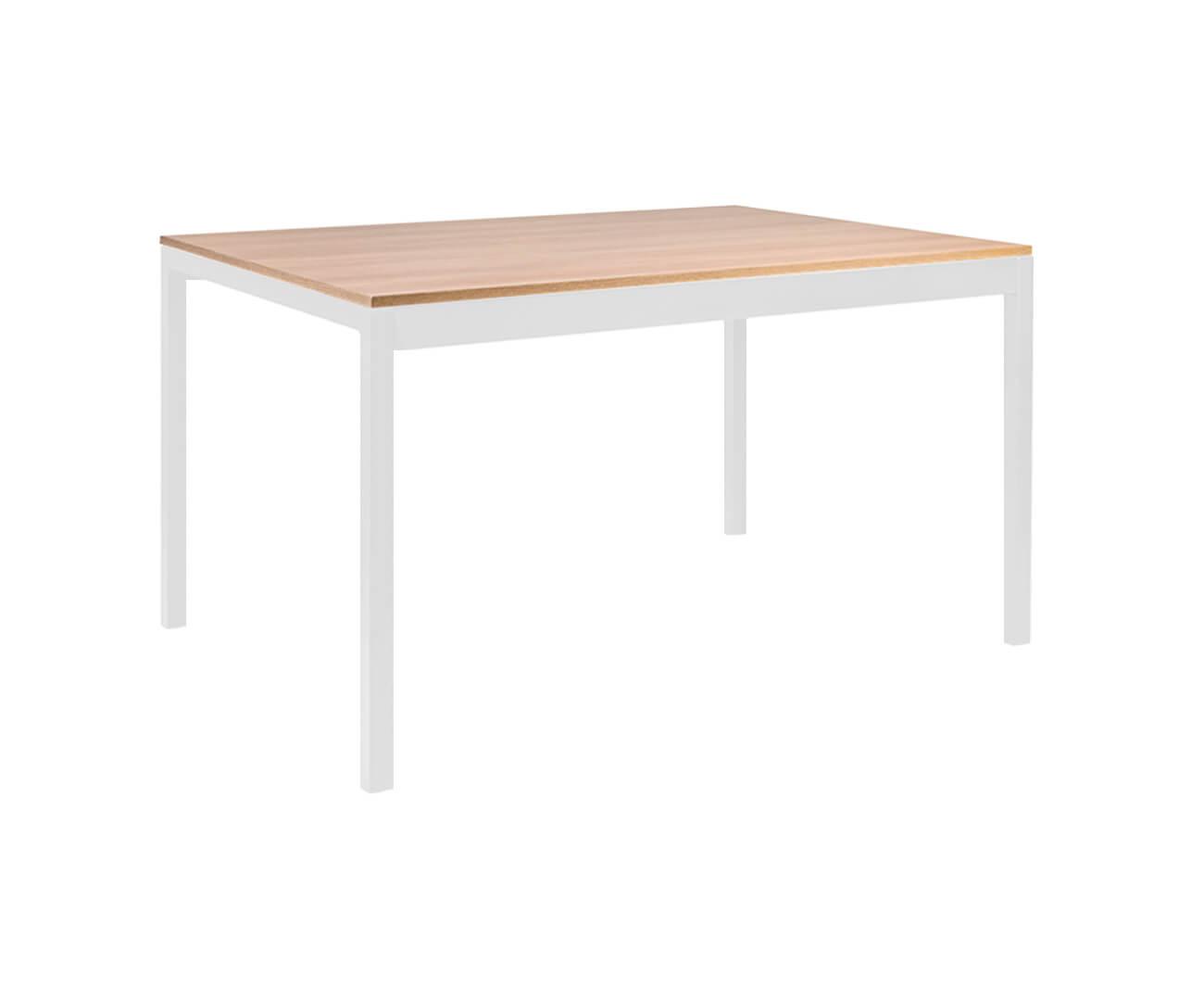 mesa de jantar retangular em metal e madeira square 0897