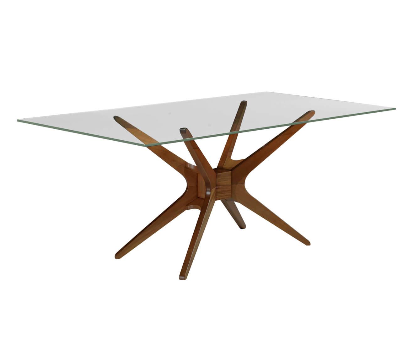 base de mesa retangular em madeira XS 1055