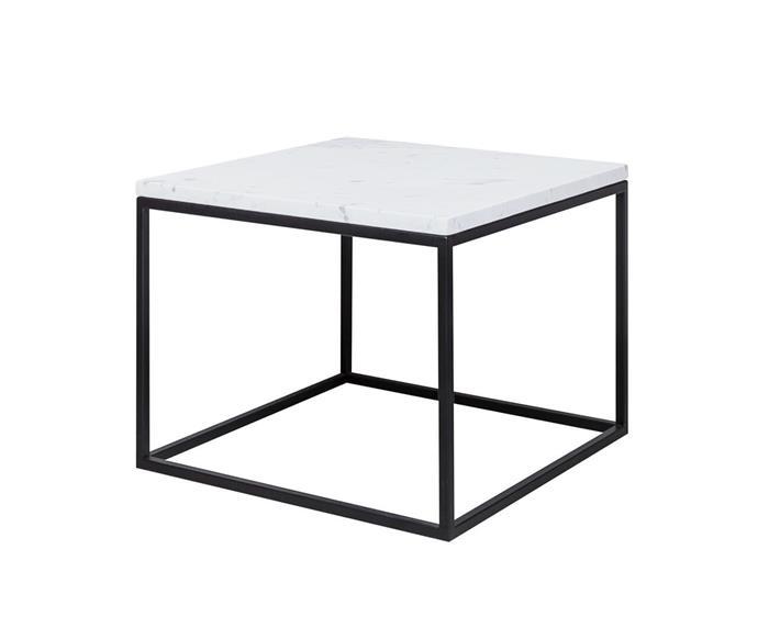 mesa de centro em mármore espírito santo cube 1302