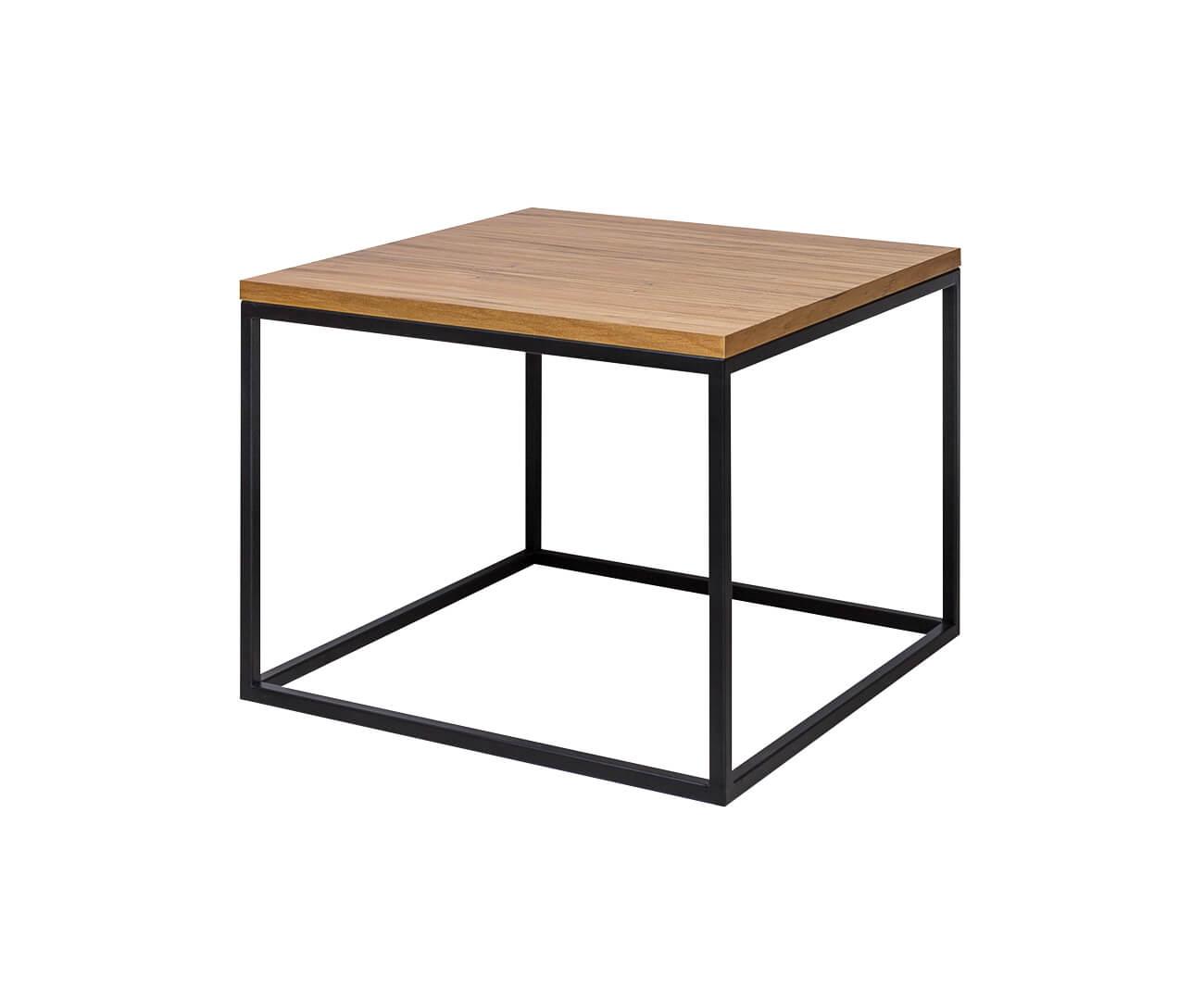 mesa em metal e madeira cube 1305