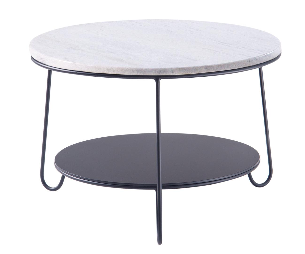 mesa de centro redonda turin tampo mármore 1203