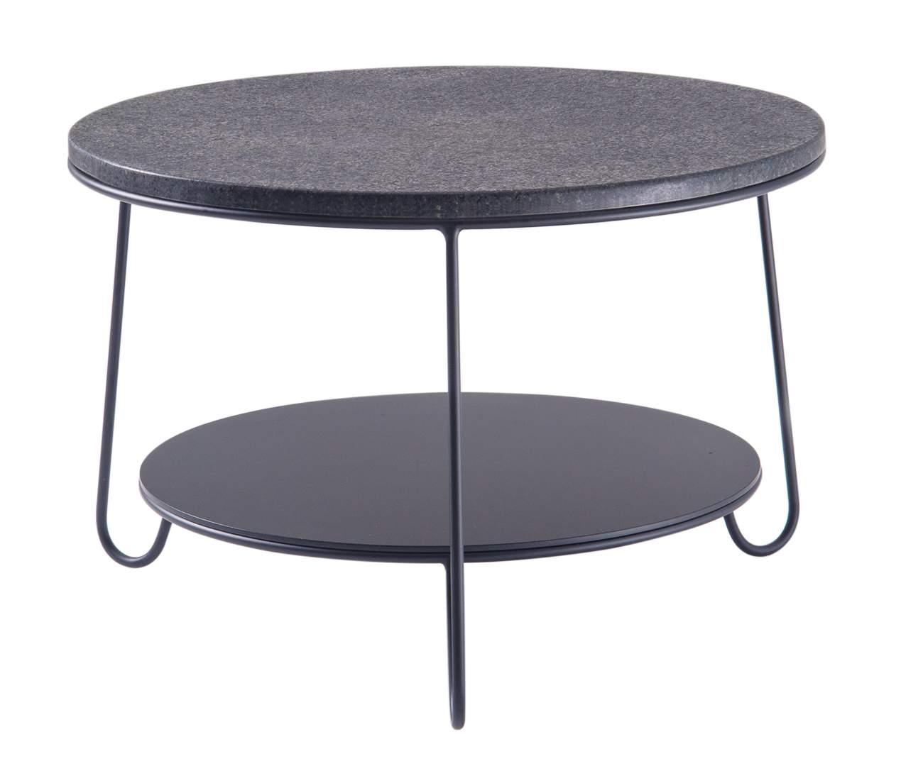 mesa de centro redonda turin tampo granito 1204