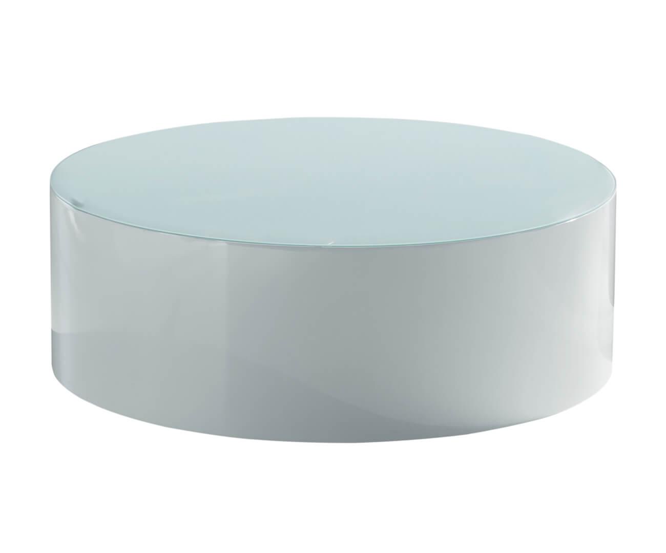mesa de centro redonda em laca circolo 0201