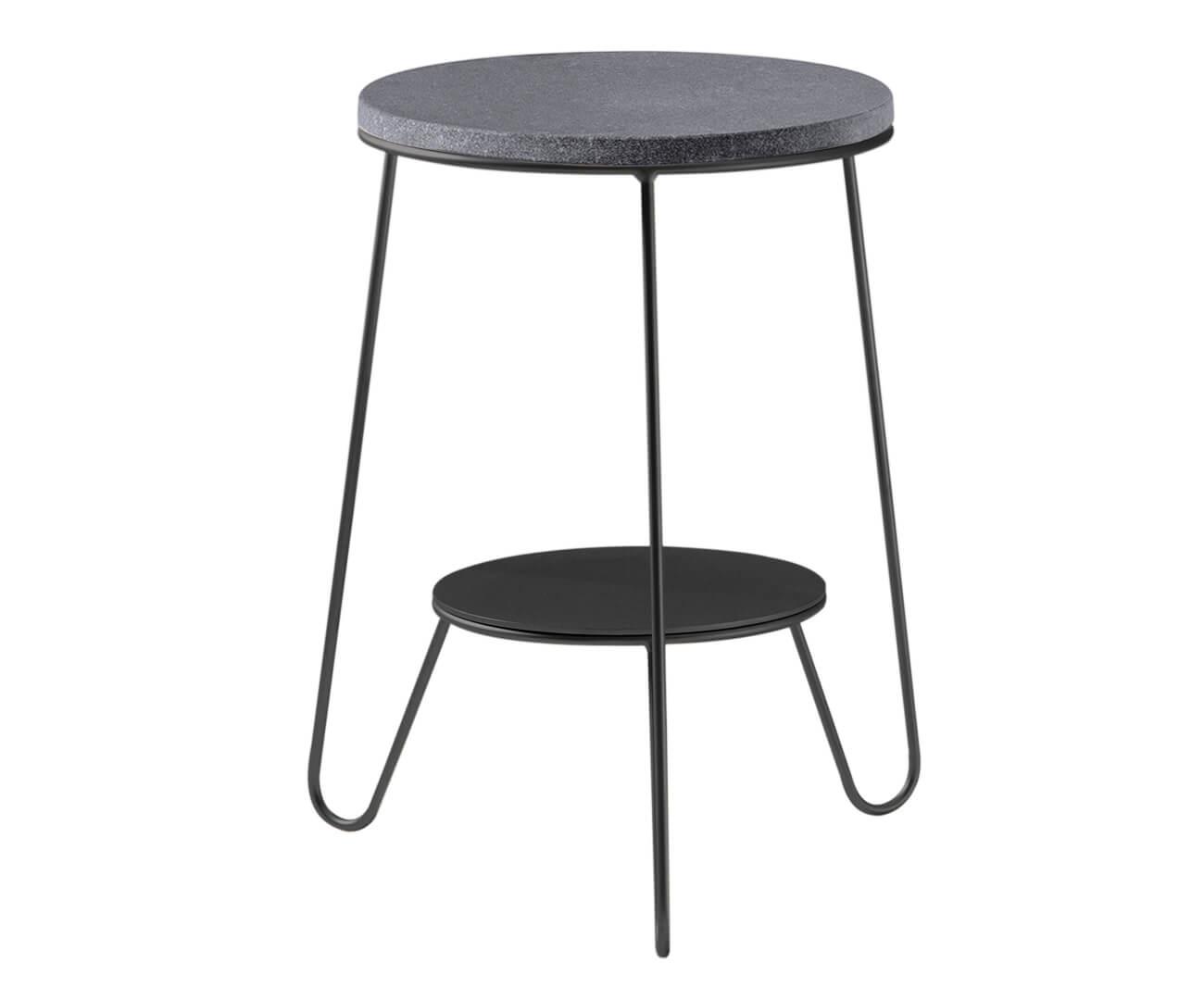 mesa lateral redondo turin tampo granito 1202