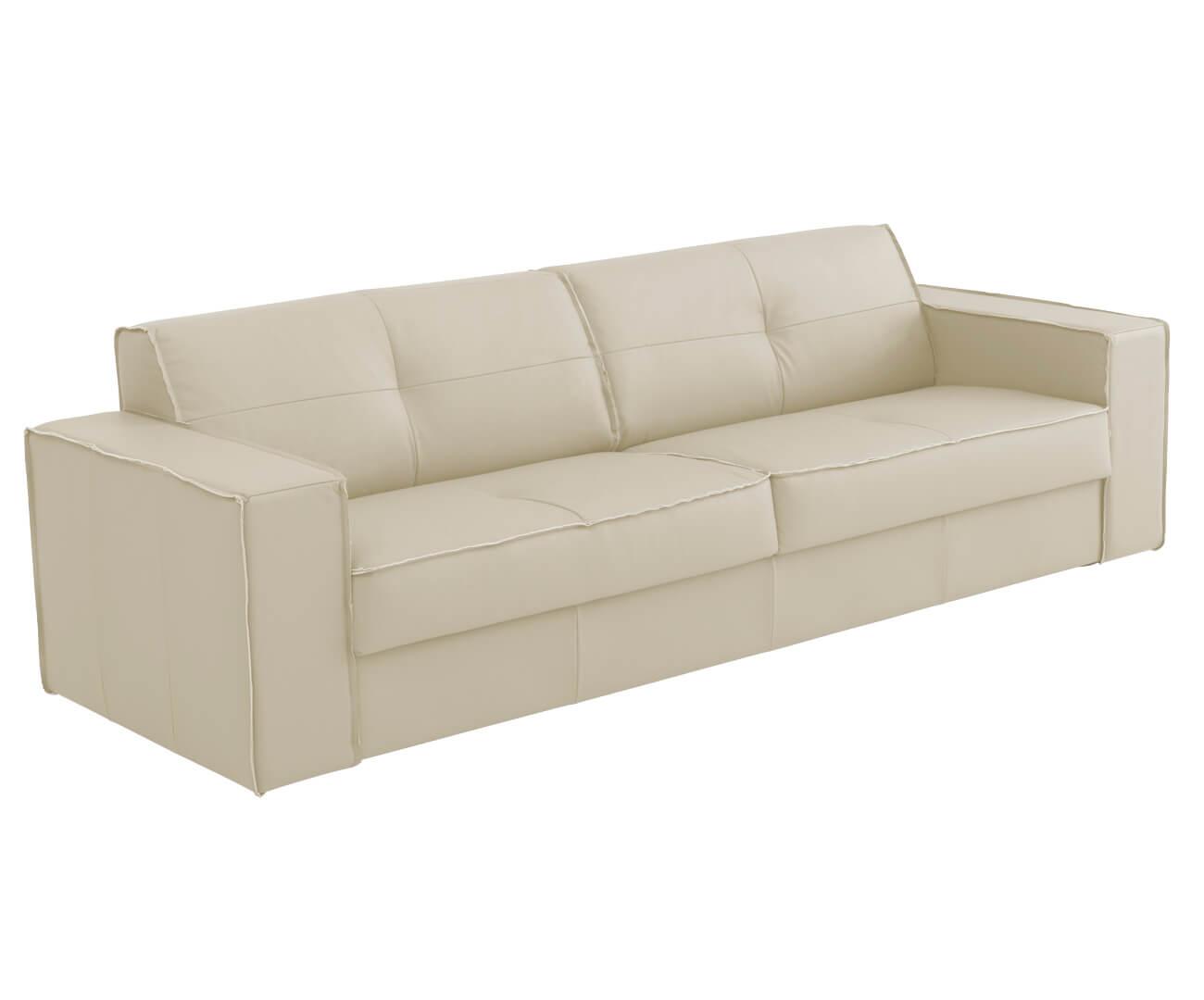 sofá em couro natural 3 lugares san francisco (com molas) 1269