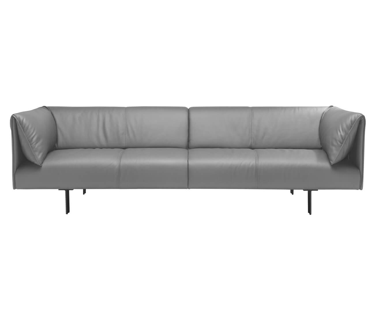 sofá em couro natural taormina 1268
