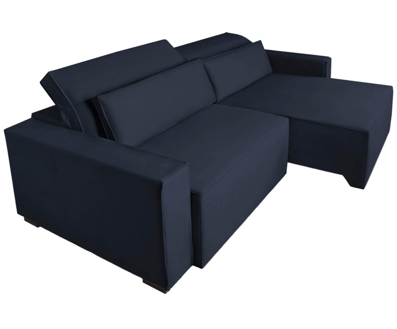 sofá retrátil e reclinável modern (molejo duplo) 1229