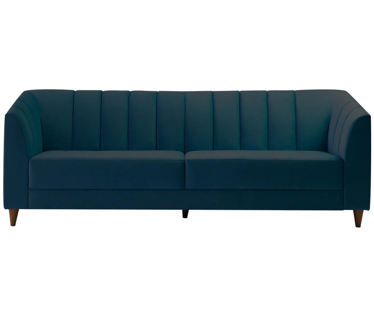 sofá 3 lugares allure em veludo 0742