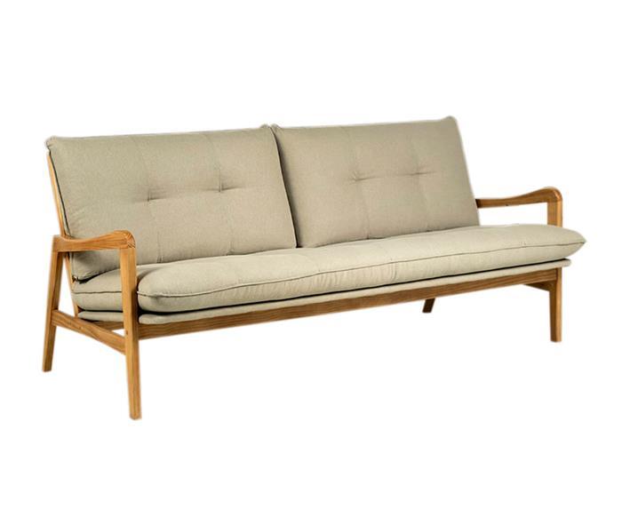 sofá em madeira maciça escandinávia 1058