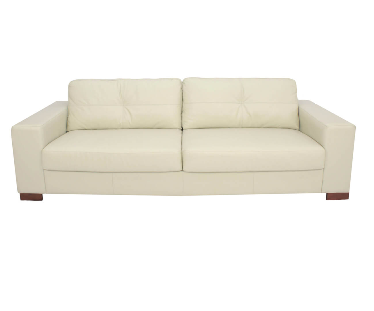 sofá 3 lugares em couro natural milão 0203